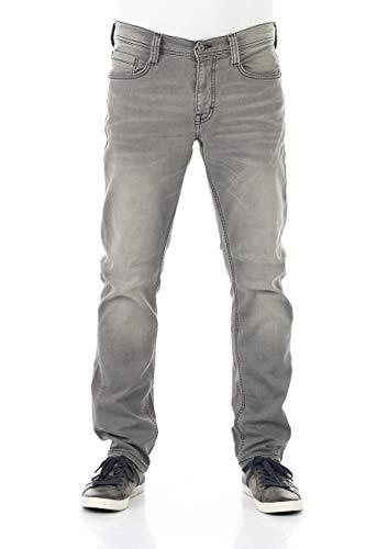 MUSTANG Herren Jeans Real X Oregon Tapered K Stretchhose Jeanshose Sweathose Denim 87% Baumwolle Blau Schwarz Grau (38W / 32L, Light Grey Denim (311))