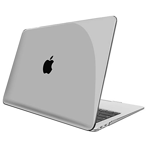 FINTIE Case for MacBook Air 13 Inch (2020 & 2019 & 2018 Release) A2179 / A1932 - Protective Snap On Hard Shell Cover for New MacBook Air 13 Retina Display with Touch ID, Crystal Gray