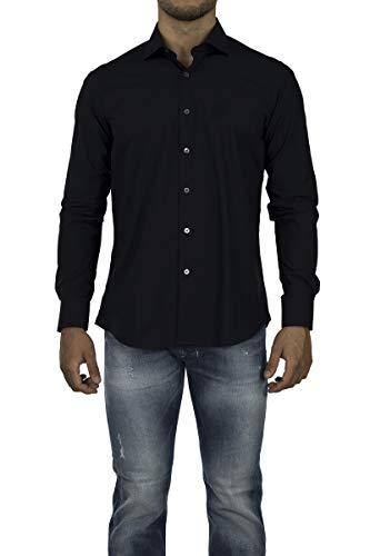 Roberto Cavalli - Herren Slim Fit Hemd FSR705 - Blau (Marine), 41