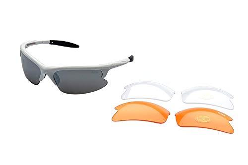 Ravs Multi SPORTBRILLE Sonnenbrille inkl. 3 WECHSELGLÄSER SOFTBAG