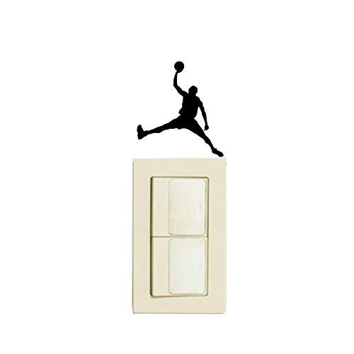 PMSMT Personalidad Deportes Jugar Baloncesto Vinilo Interruptor Pegatina Pared calcomanía 5WS0673