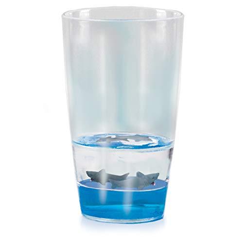 Vasos del tiburón de Floatarama de Deluxebase. Vidrios de consumición de acrílico...
