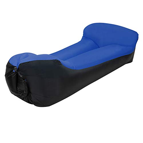 XUE-SHELF Aufblasbare Lounger Air Chair Schlafsofa Schlafsack Couch für Beach Camping Lake Garden,Royal Blue