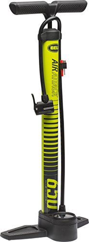 Bell Air Attack 650 High Volume Bicycle Pump Yellow Stripe with Gauge, Air Attack 650