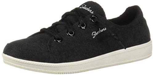 Skechers Womens Madison Ave-Inner City Sneaker, BKW, 6.5 M US