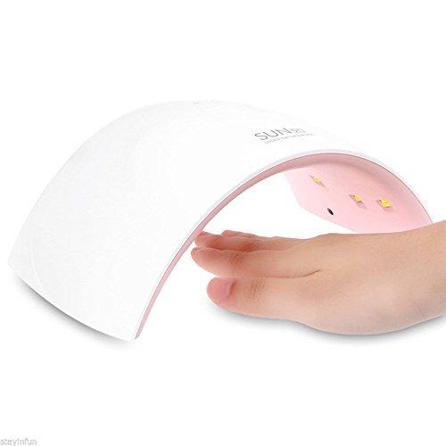 Sun 9 Lampe sèche-ongles UV LED professionnelle avec minuteur pour gel UV 24 W Lumière blanche