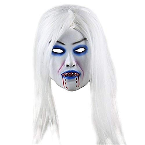 YYH Halloween Scary Mask, Bleeding Woman Devil Cosplay Accesorios de Fiesta de Disfraces