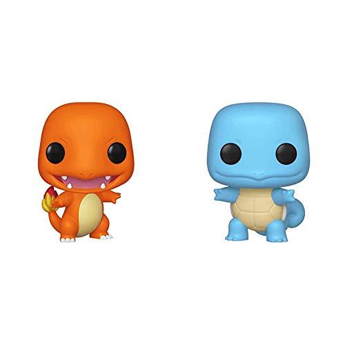 Funko Pop! Games: Pokemon - Charmander, Multicolor & Pop!: Pokemon - Squirtle, Multicolor