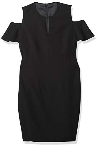 Elie Tahari Damen OLEANDRA Dress Kleid, schwarz, 46