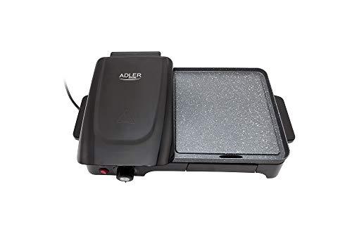 Adler Elektrogrill mit 2200W Leistung AD 6608, 2200, Schwarz