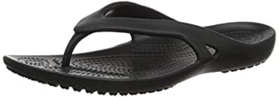Crocs Women's Kadee II Flip Flop, Black, 6 M US