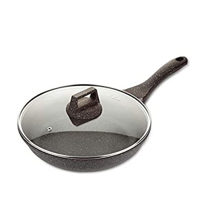 LYZ Frying Pans Steak Frying Pan,Suitable For All Hobs Including Induction Handles Non-stick Pans For Induction Cooker Gas Stoves (Color : A, Size : 26cm)