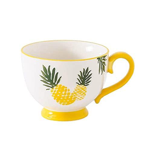 XDYNJYNL 16.23oz / 480ml Taza de Porcelana Creativa, Taza de té de café para Adultos con Mango Aislado Highball Beber Ceramic Ceramic Set Great for Juice Cocktail Agua Cappuccino Restaurantes