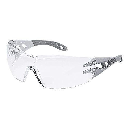 uvex Schutzbrille pheos supravision excellence klar hellgrau/grau kratzfest beschlagfrei - Sicherheitsbrille, Arbeitsschutzbrille