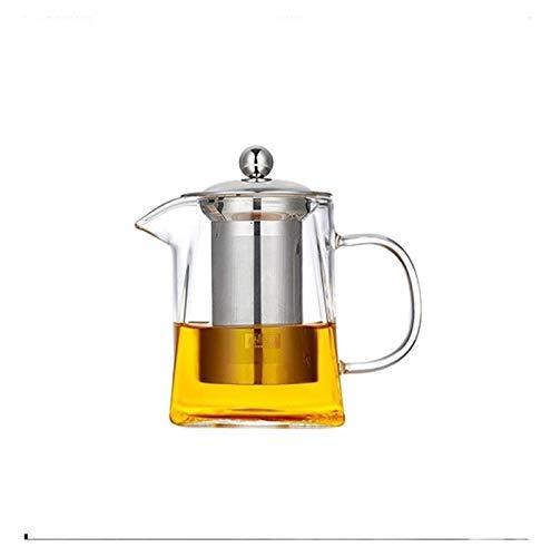 SKYEI Tetera Kettle 900ml Hervidor de Vidrio con Mango Integrado Conjuntos de té Resistente al Calor para la Oficina de la Sala de Estar Tetera de té de la Tetera de Grado Premium