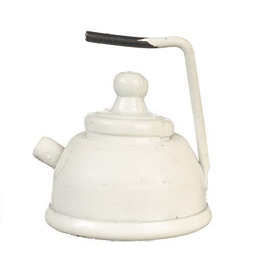 Melody Jane Puppenhaus Weiß Wasserkocher Metall Küche Zubehör 1:12 Maßstab