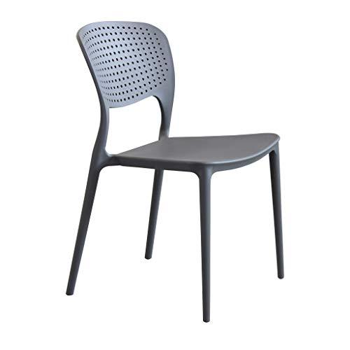 Milani Home s.r.l.s. Sedia in Polipropilene plastica di Alta qualità di Design per Interno e Giardino Stile Moderno per Sala da Pranzo, Cucina