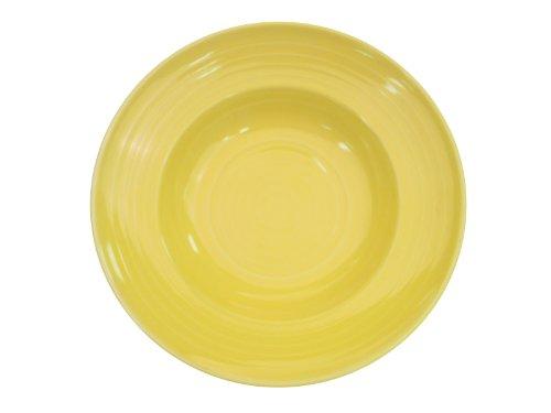 CAC China TG-3SFL Tango 9-Ounce Sunflower Porcelain Pasta Bowl, 9-Inch, Box of 24 -  TG-3-SFL