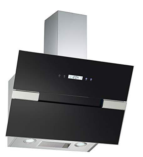 PKM S25-60ABTH Wandhaube/Glas/Schwarz / 60 cm/LED-Beleuchtung/Kopffrei
