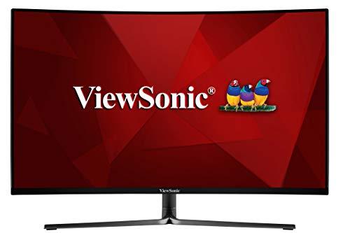 ViewSonic VX3258-2KPC-MHD 80 cm (32 Zoll) Curved Gaming Monitor (WQHD, FreeSync, 1ms, 144 Hz, HDMI, DP, geringer Input Lag) schwarz