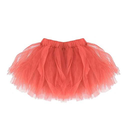 Falda del Tutu para Niña,SHOBDW Bebé Lindo Regalos de cumpleaños para niños Niños Vestidos de Baile Mini Faldas de Ballet Plisadas Rendimiento Fiesta de Lujo(Sandía)