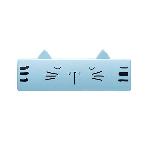 KTUCN Cepillo para Mascotas, para Perros Gatos Forma Encantadora de Dibujos Animados Mini Limpiador pegajoso Lavable Reutilizable de diseño portátil, Blue10.3x3.8cm