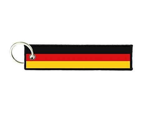 akachafactory Schlüsselanhänger Auto Moto anhänger Flagge Fahne flaggen Deutschland