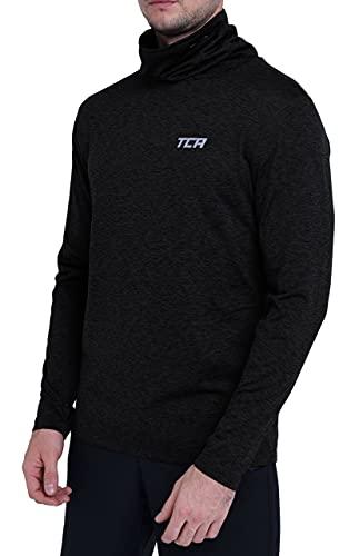 TCA Warm-up Herren Thermo-Laufshirt mit Rollkragen - Langarm - Black Stealth (Schwarz), L
