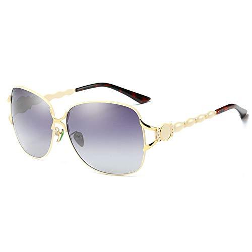 LG Snow Hombres/Mujeres Gafas De Sol Polarizadas Viaje Rojo Deportes Al Aire Libre Conducción Gafas De Sol Playa Protección UV UV400 Estructura De Metal Ultra Ligero Unisex (Color : Gold)