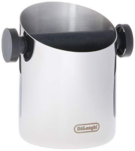 De\'Longhi DLSC059 Abschlagbehälter, für Espresso Siebträger, Kaffeesatz Abschlagbox, Kaffeemaschinen Zubehör für den Barista Zuhause, Abklopfbehälter aus Edelstahl