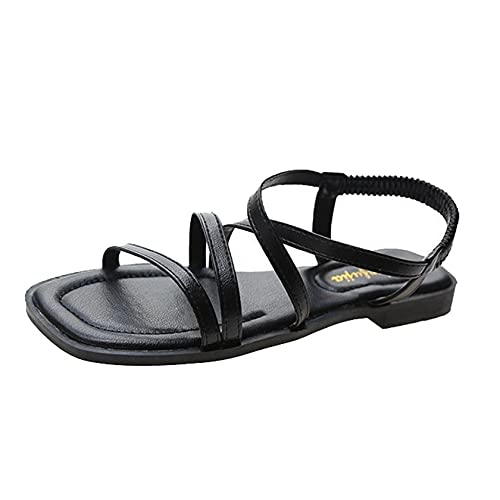 Sandalias romanas de mujer Clip Peep Toe Verano al aire libre Slingback...