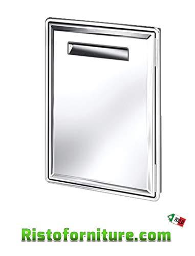 Sportello frigo AX17/S in acciaio inox AISI 304 per frigo banco bar
