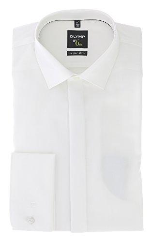 OLYMP No. Six super Slim Hemd Langarm Umschlagmanschette beige Größe 40