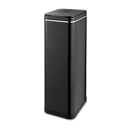 Tower Freedom T938013PM Abfalleimer mit Sensor, Fingerabdruckschutz, beschichtet, 60 l, Schwarz