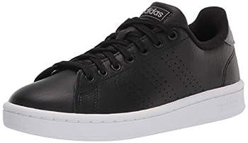 adidas mens Advantage Tennis Shoe Black/Black/Grey 10.5 US