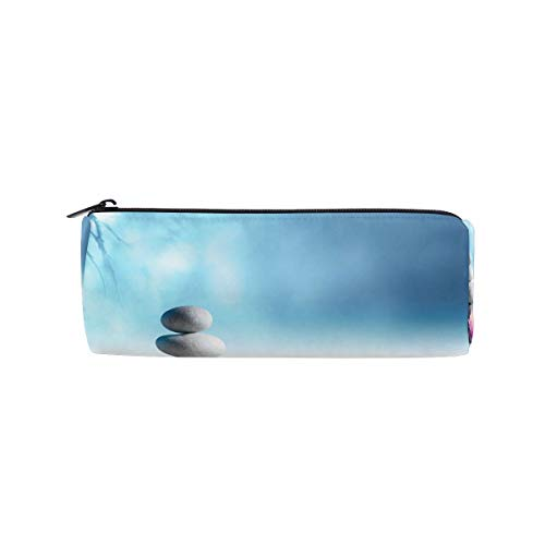 Sand Lily Spa Stone Zen Water Pen Pencil Case Makeup Cosmetic Pouch Case Travel Bag