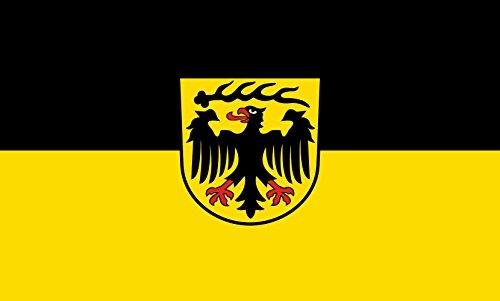 Unbekannt magFlags Tisch-Fahne/Tisch-Flagge: Ludwigsburg (Kreis) 15x25cm inkl. Tisch-Ständer