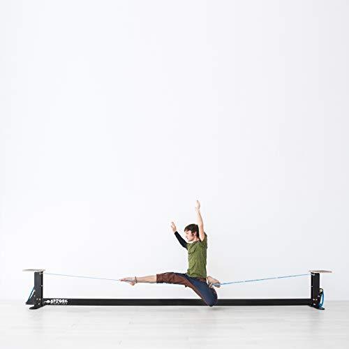 SPIDER SLACKLINE SISA0 - Slackhouse 4.0 - Indoor Slackline mit Verstellbaren Schnüren in 30 oder 50 cm Höhe - Wie im Fitnessstudio - Geeignet für Anfänger und Experten - Slacklinelänge 4 m