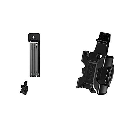 ABUS AB78063 6055/85 Bordo Lite Vorhängeschloss, schwarz, 85 cm & Halter SH Bordo Lite 6055 Transporthalterung Für Fahrradschloss, Black, One Size