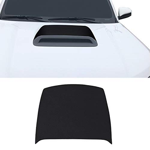 Optix Hood Scoop Vinyl Graphic Overlay Wrap Decal Compatible with 4Runner Trail TRD Offroad Pro 2010-2020 - Metallic Matte Chrome Black