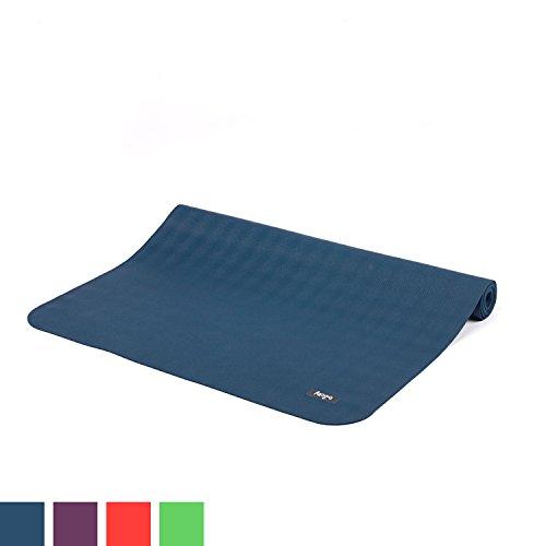 Reise-Yogamatte ECOPRO TRAVEL, Antirutsch-Yogamatte, 1,3 mm superleicht & faltbar, extrem rutschfest, Natur-Kautschuk (ozean-blau)
