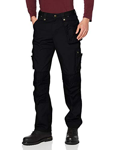 Carhartt Herren Multi Pocket Ripstop Pants, Black, W38/L32