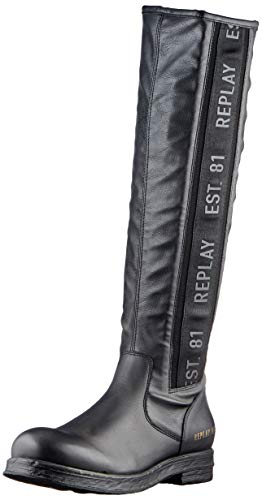 REPLAY Damen SYBIL Mode-Stiefel, Schwarz 003 Black, 41 EU