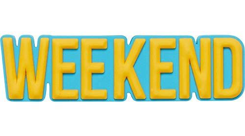 Crocs Jibbitz Wörter-Schuhanstecker | Individualisieren Sie Ihre Crocs mit Jibbitz Weekend One-Size