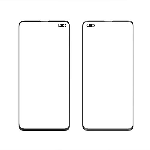 Front Glass Lens Voor Samsung S10 Plus LCD display buitenste touch panel scherm glas vervanging (zwart)