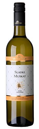 Vinakoper Weißwein Aperitif Sladki Muskat - Süßer Muskateller aus Istrien 0,75 lt Geschenke für Frauen zum Geburtstag - EINWEG