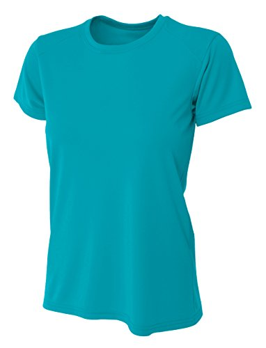 A4 Womens Cooling Performance Crew, Medium, Teal