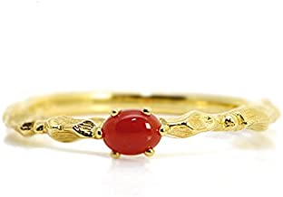[BENEBENE] ベーネベーネ 赤珊瑚リング「カラーレディス」 ピンクゴールド 15