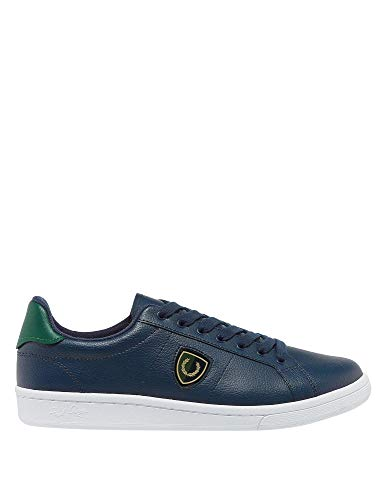 Fred Perry - Scarpe da Uomo B5179 266 Shields Badge - Blu Carbone, 39
