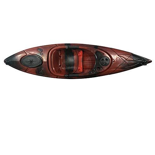 Cambridge Kayaks ES, Herring Negro Y Rojo Kayak DE Paseo Y Pesca, RIGIDO,